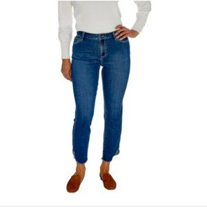 Susan Graver High Rise Stretch Denim Ankle Jean 12